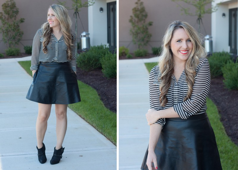 The Everyday Leather Skirt - Pearls & Twirls