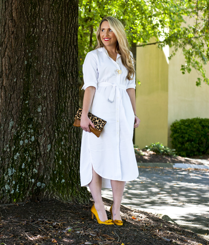 White Shirt Dress after Labor Day