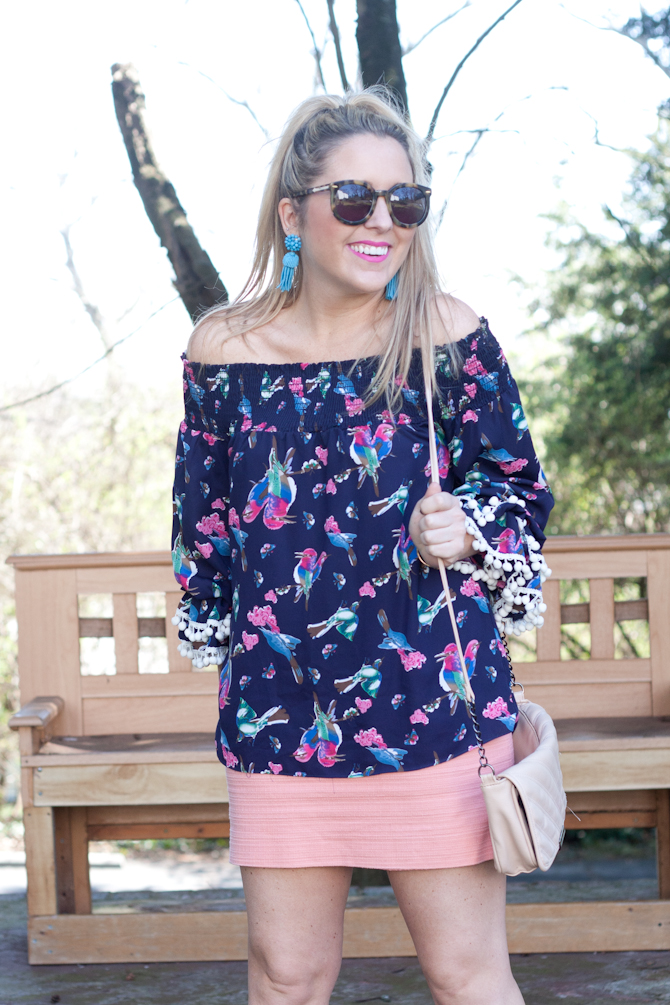 Pom sleeves top from My Kind of Lovely