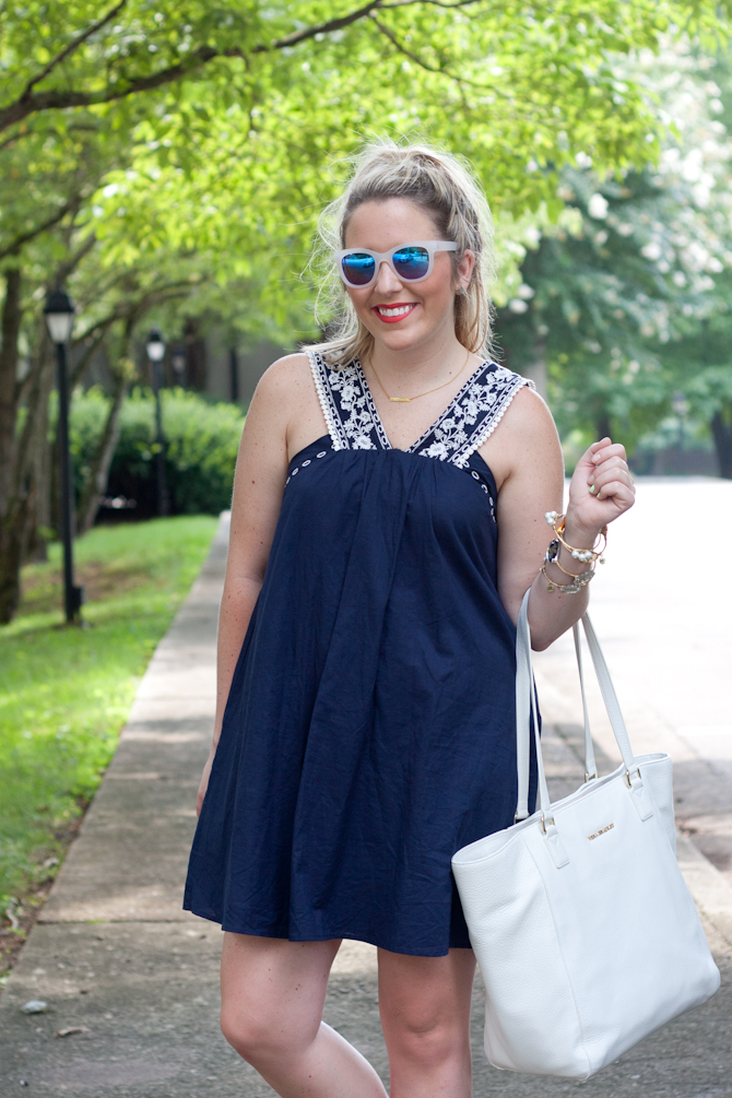 My Kind of Lovely Summer Dress & Vera Bradley Tote