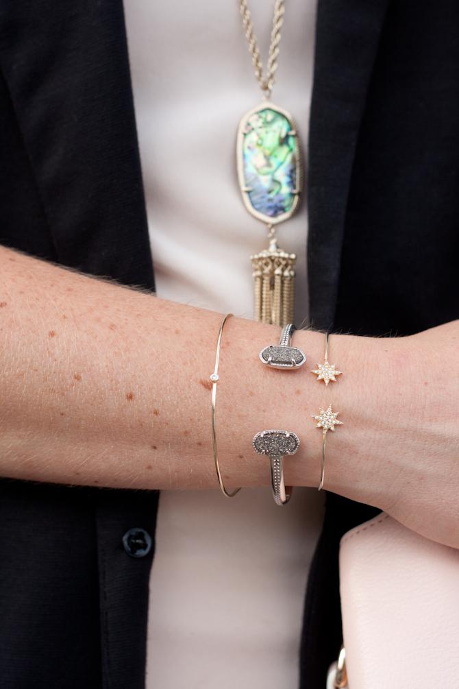 Dainty bracelets on www.pearlsandtwirls.net