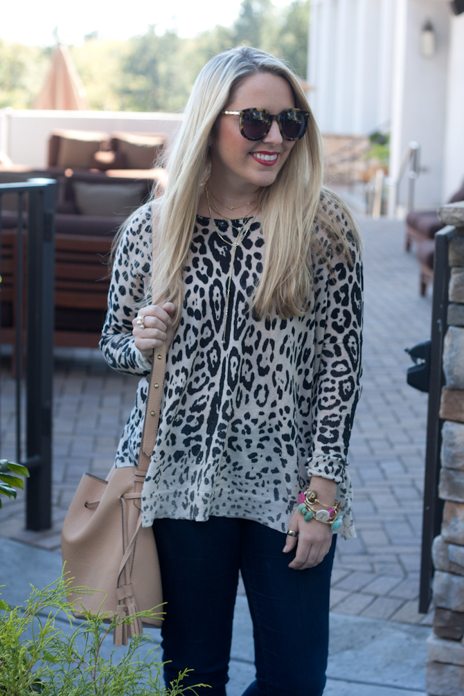 Leopard sweater & James Jeans-5