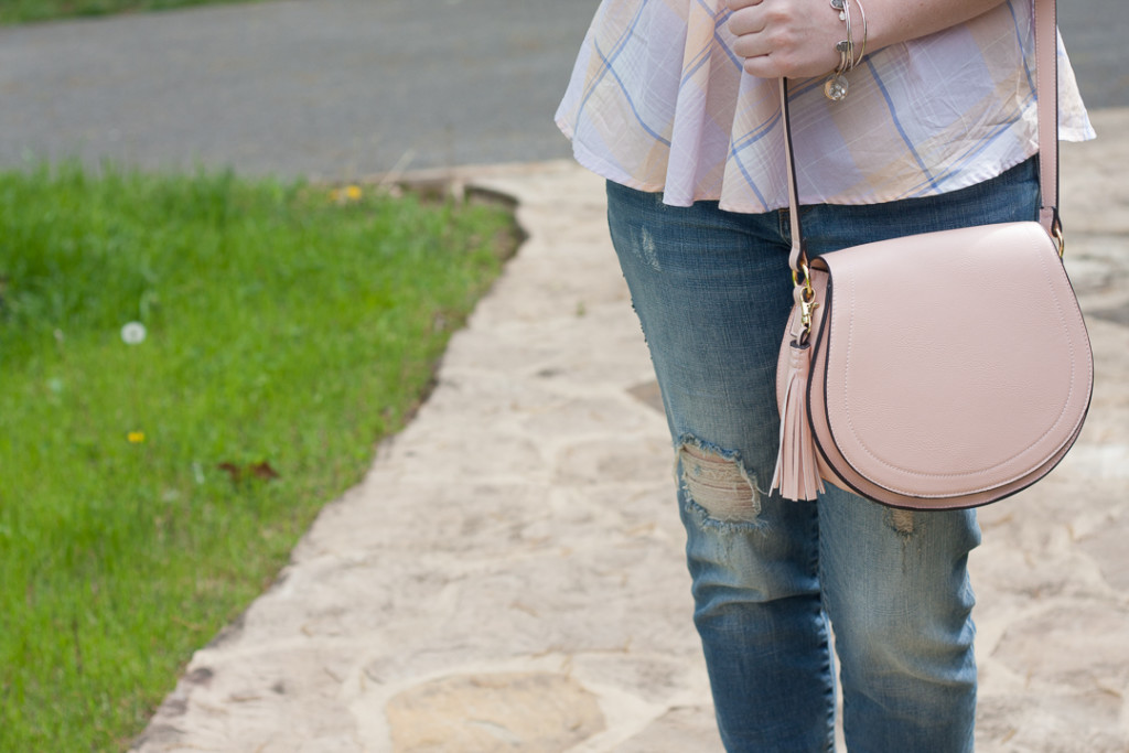 Blush Old Navy Saddle Bag
