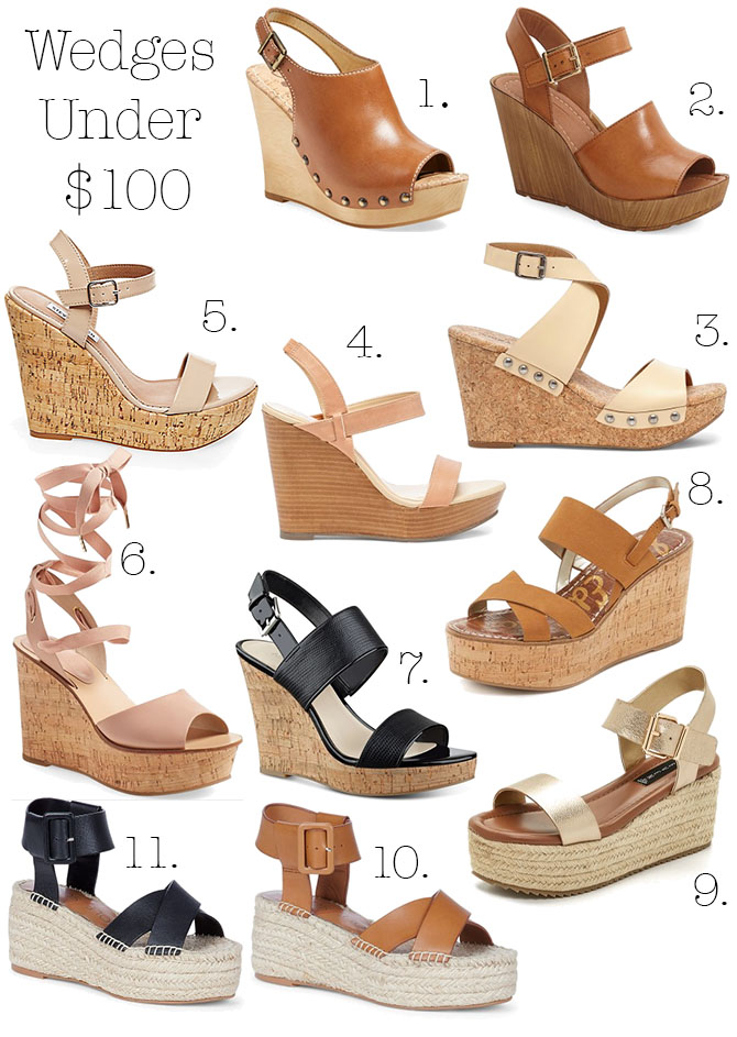 Wedges Under $100 | Pearls & Twirls