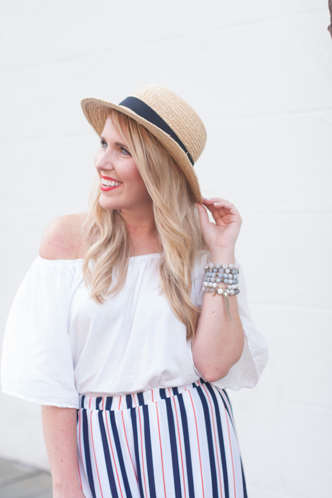 summer charleston outfit in a sole society hat
