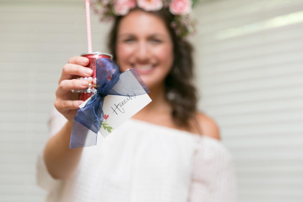 Bridal shower favor - Sofia Champagne and Stretchy bracelets