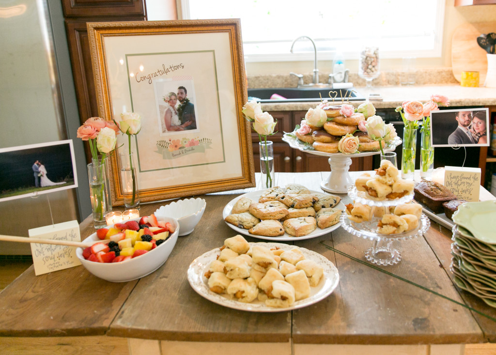 Simple bridal shower food spread