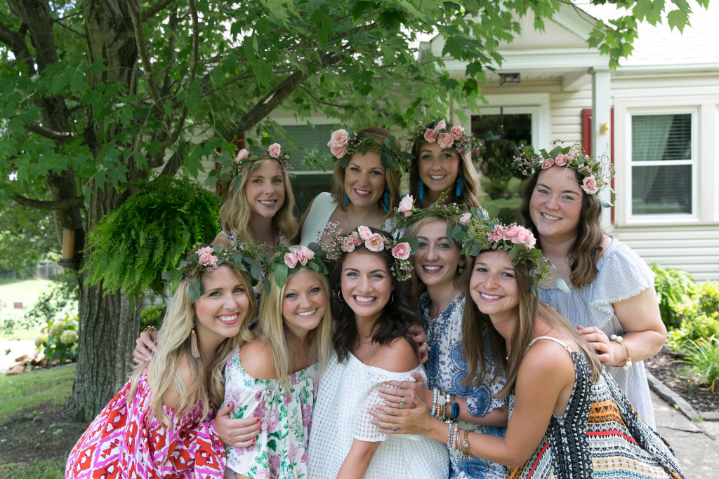 Bridal Shower friends with flower crowns
