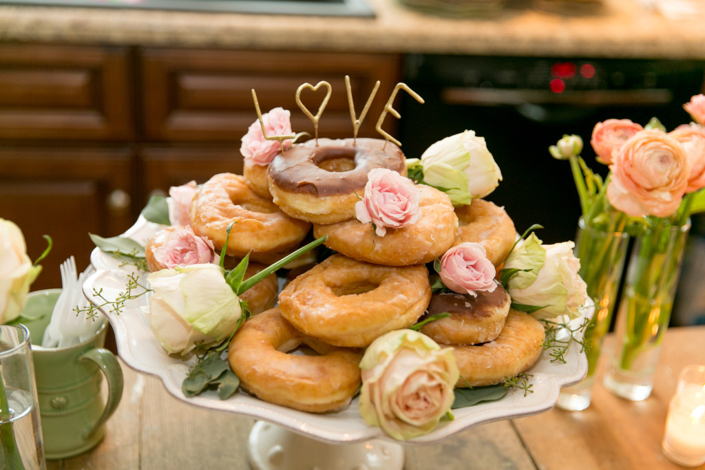 Bridal Shower donut cake