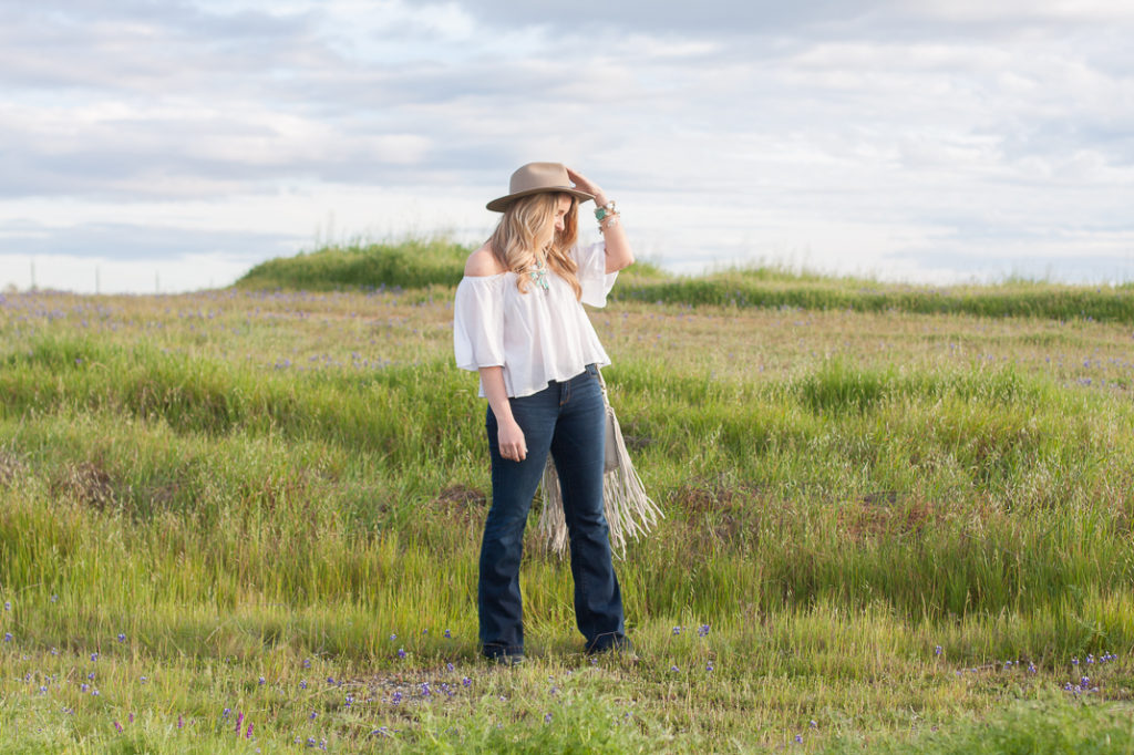 Flare Jeans and Western Accessories
