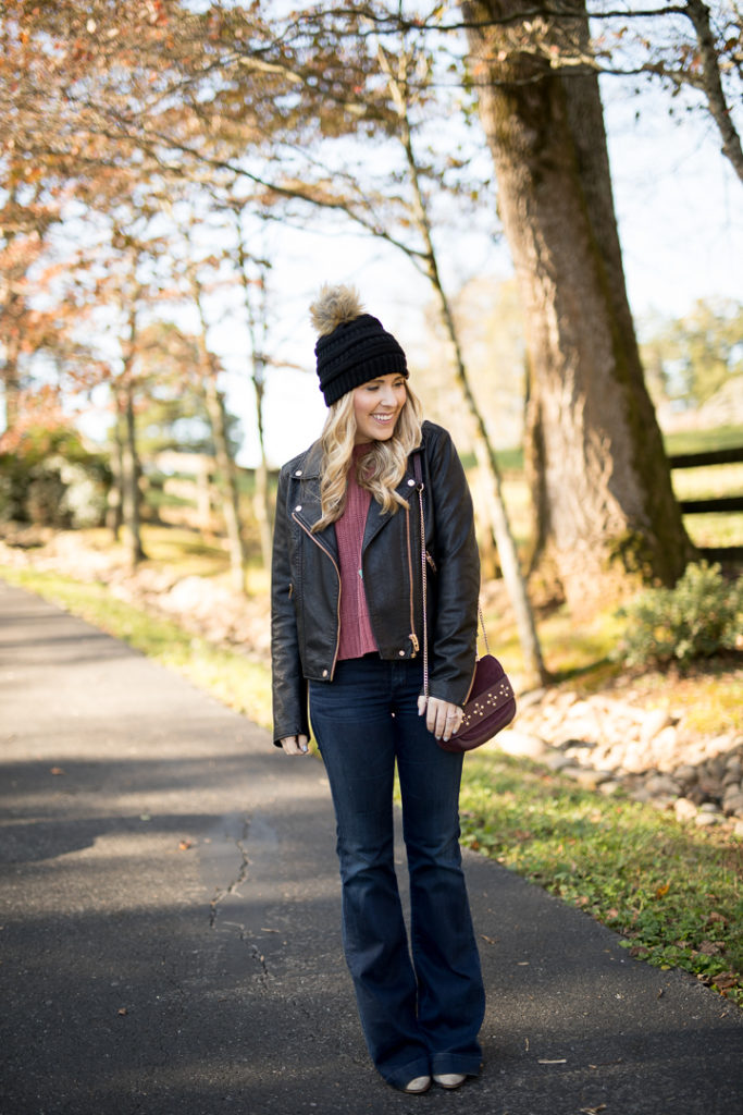 Leather Jacket Layering