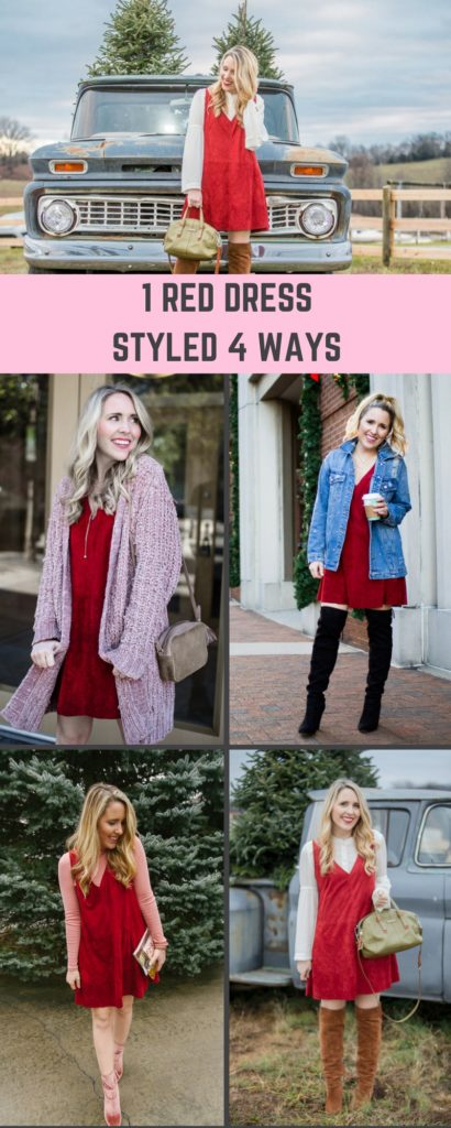One Red Dress Styled 4 Different Ways
