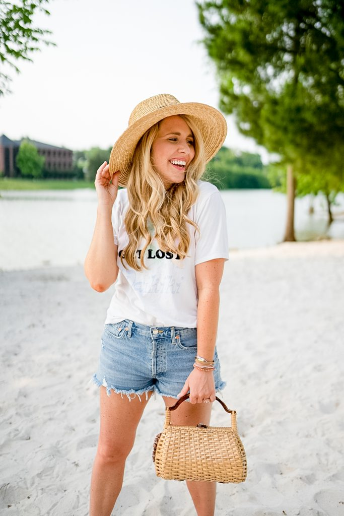 The Best of Denim Shorts for Thick Thighs featured by top Nashville fashion blogger, Pearls and Twirls