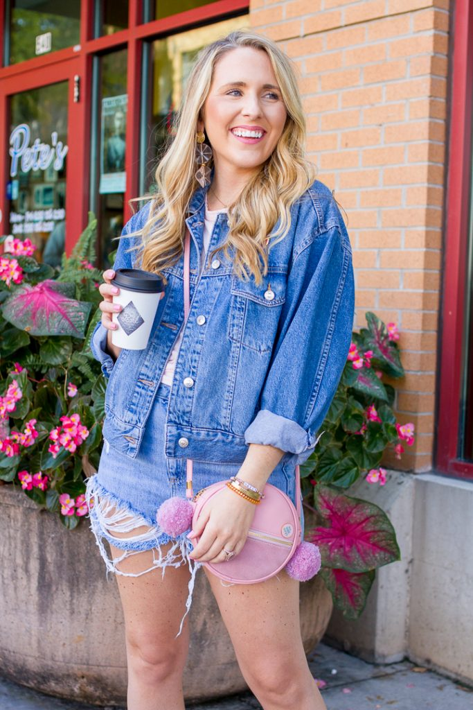 How to Wear Denim Shorts for Fall, tips featured by top Nashville fashion blogger, Pearls and Twirls