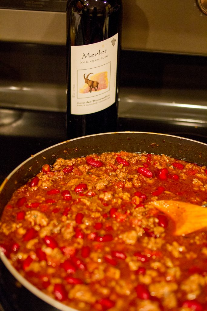 Red Wine Chili Recipe featured by top Nashville lifestyle blogger, Pearls and Twirls