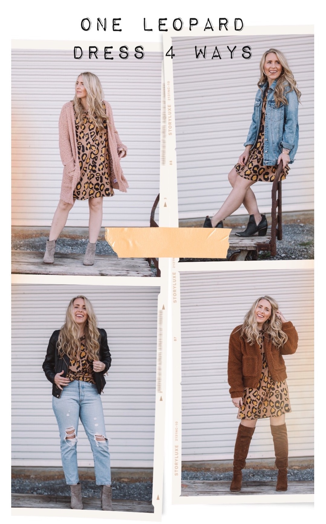 4 Different Ways to Wear a Leopard Dress