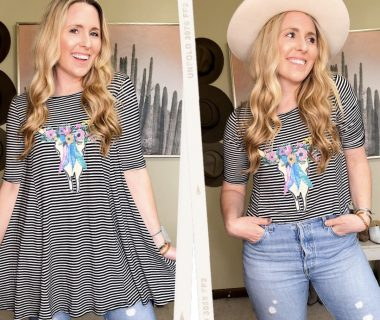 How To Crop Your Shirts at Home, tips featured by top Nashville life and style blogger, Pearls and Twirls