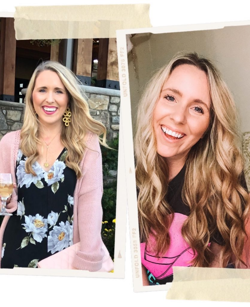 Before and after hair transformation with monat