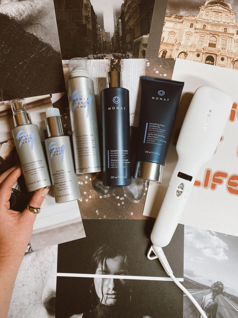 Monat Sale by popular beauty blog, Pearls and Twirls: image of Monat hair products.