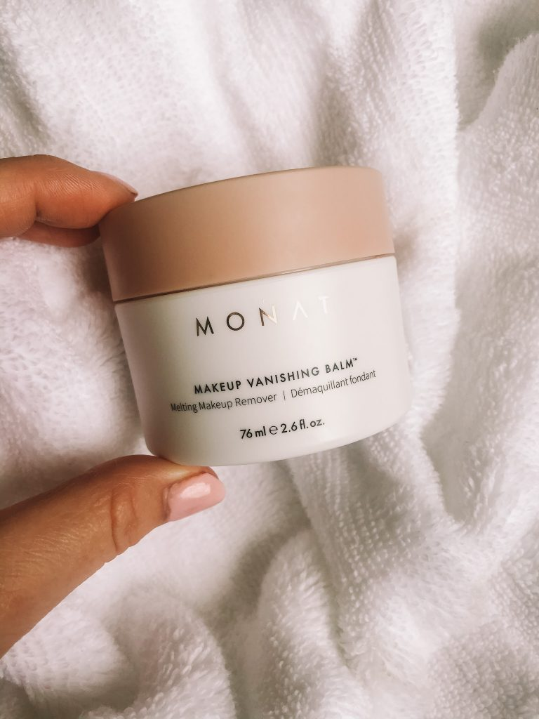 What to Use Instead of Makeup Wipes by popular Nashville beauty blog, Pearls and Twirls: image of Monat Makeup Vanish Balm.